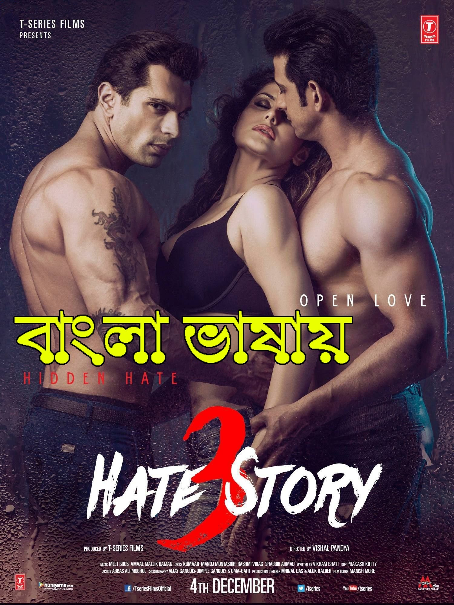 18+ Hate Story 3 (2015) Bengali Dubbed ORG 720p HDRip 850MB Download