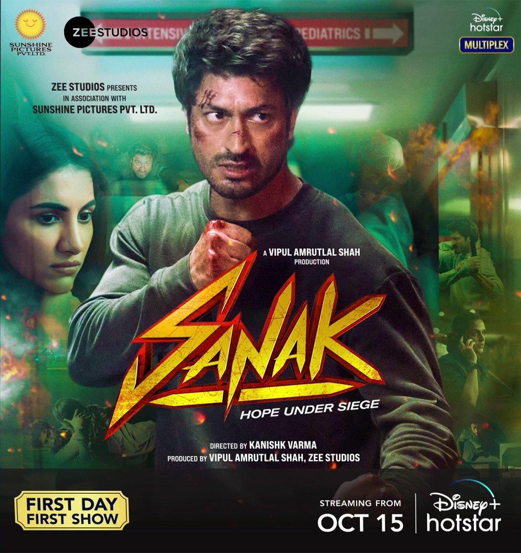 Sanak 2021 Hindi Movie 720p DSNP HDRip ESub 1.3GB | 350MB Download