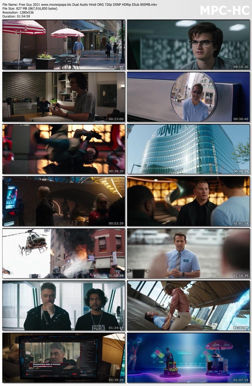 Free Guy 2021 screenshot HDMoviesFair