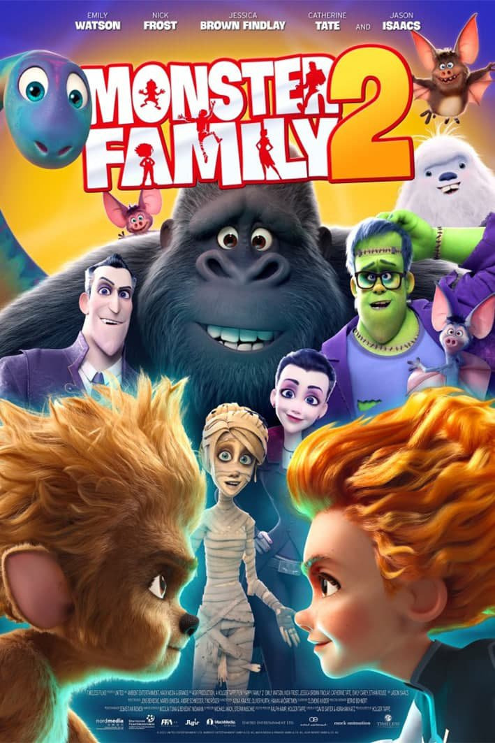 Monster Family 2 2021 English 480p HDRip 300MB Download
